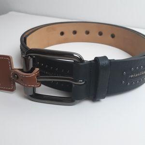 Michael Kors studded 100% leather belt